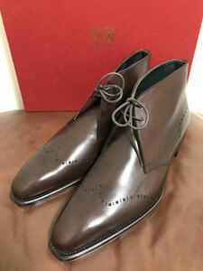 【未使用】値下交渉歓迎 即決有 ペルフェット 7.0 チャッカブーツ レザーシューズ ビジネスシューズ 革靴