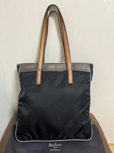 【美品】値下交渉歓迎 即決有 ベルルッティ トートバッグ 鞄 バッグ カリグラフィ パティーヌ トゥジュール アンジュール ドゥージュール