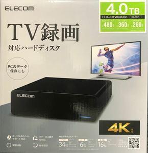ELECOM ELD-JOTV040UBK 4TB ハードディスク新品未開封