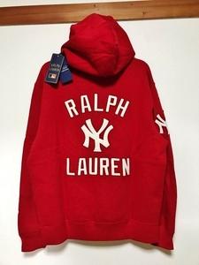 新品 コラボ 限定 別注 MLB ラルフローレン ヤンキース ニューヨーク POLO ポロ Ralph lauren リミテッド スウェットパーカー パーカ 野球