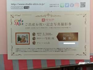 【クーポン】スタジオアリス 記念写真撮影券【送料無料】