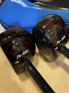 パークゴルフ クラブ 2本セット スティックPOWERFUL SWING Fz-300 パワフルスイング ケース 付き