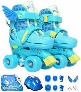 新品 ブルー-02 S(19cm~21.5cm) Tianyan ローラースケート インラインスケート 子供用 幼児BZ4V