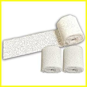 ★サイズ:幅10cm×長さ460cm★ 石膏テープ 3個セット 造形素材 工作 クラフト用 水硬化 着色可能 SxP (幅10cm×長さ460cm)