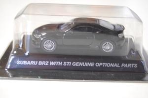 I 1/64スケール ミニカーコレクション SUBARU BRZ WITH STI GENUINE OPTIONAL PARTS ブラック KYOSHO