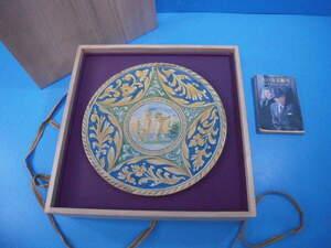 「イタリア天使文絵皿 径29cm 重0.7kg 箱付」エストウェストオークションで落札,時代があります!
