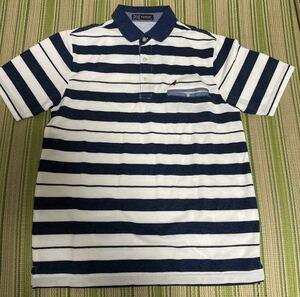 KANGOL カンゴール ポロシャツ Mサイズ メンズ 半袖 男性 ボーダー 新品未使用 ボーダー カットソー 夏 綿 KANGOL