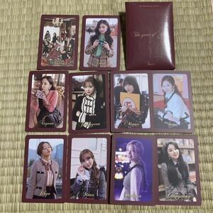 TWICE フォトカードセット 10枚入 韓国 the year of yes 初回限定特典 トレカ トレーディングカード