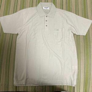 ポロシャツ Mサイズ メンズ 半袖 男性 ボーダー 新品未使用 カットソー 夏 綿 FIRST DOWN ファーストダウン USA アメリカ 88-96