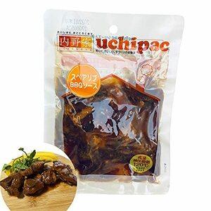 好評 内野家 uchipac 無添加 スペアリブBBQソース仕立て 120g×10食セット/ レトルト食品 お惣菜 非常食