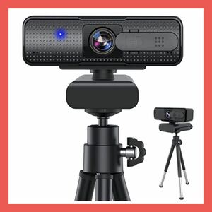 webカメラ ウェブカメラ マイク内蔵 自動フォーカス フルHD 1080P 30fps 200万画素 三脚付き
