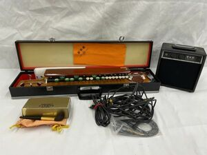 1003-305S⑦12320 琴伝流 大正琴 さつき / アンプ KA-50 / SEIKO 大正琴 調律器 ST200 他 ハードケース・付属品付き