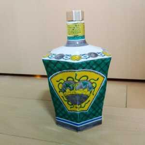 中身なし 響[21]年 サントリー スペシャルボトルコレクション2013 九谷焼 青手 吉祥文六角瓶 巨匠
