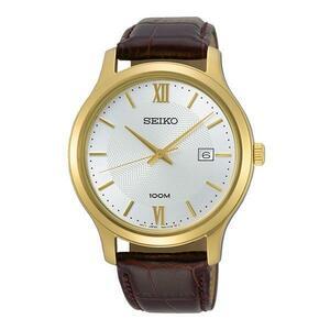 【逆輸入SEIKO】セイコー海外モデル セイコー逆輸入 セイコーアナログクォーツ 3針デイトカレンダーメンズ腕時計 男性用革ベルト SUR298P1