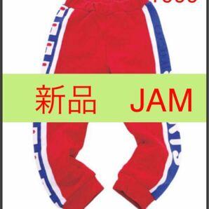 新品 JAM【定価¥4290】 jamスポーツパンツ レッド100cm