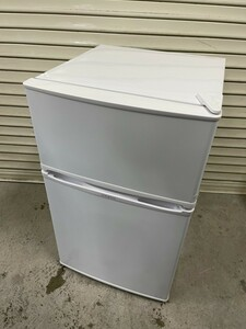 SF100855 simplus 2ドア冷凍冷蔵庫 SP-90L2 ホワイト 90L 2018年製 動作品 中古 シンプラス 小型/単身/一人暮らし 直取り歓迎
