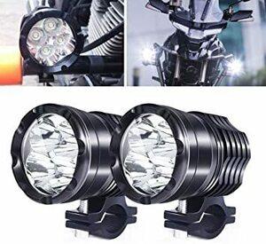 4-LED X-STYLE 40W バイク ヘッドライト 補助灯 3モード切替 Hi/Lo/ストロボ ledフォグランプ プロジ