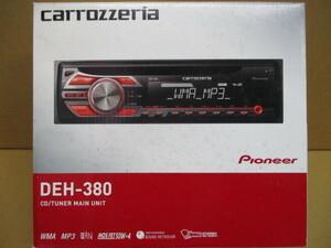 carrozzeria pioneer CD プレイヤー レシーバー DEH-380 新品未使用品 カロッツェリア