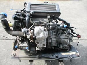 H16 MAX ABA-L962S JBDET E/G A/T 4WD エンジン ミッション C/P メンバー ギアボックス セット 93,500km