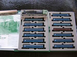 カトー KATO 客車 43系 急行「みちのく」基本+増結+機関車 C62 14両セット【鉄道模型】新品同様品