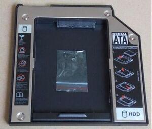 新品 IBM LENOVO ThinkPad X200/X200S/X200T/X201/X201S/X201i セカンドHDDアダプター◆SSDマウンタ SATA接続 9.5mm