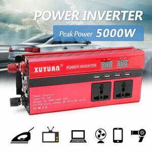 カーパワーインバ_ター 入力DC12V 瞬間最大5000W YWQ886 連続__000W 車載充 出力AC110V