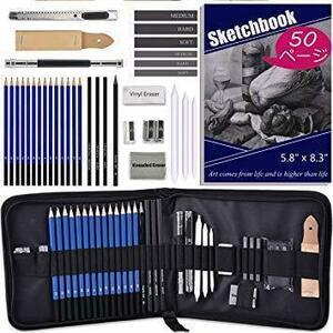 新品Darkeagle スケッチ鉛筆 デッサン鉛筆セット 絵画スケッチ用の鉛筆セット ポータブルデッサンツール 消しNXT4