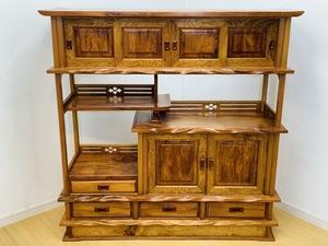 ◎【名古屋市】屋久杉 飾り棚 サイドボード リビングボード 和家具 天然木 日本製