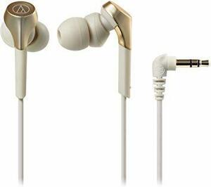 シャンパンゴールド audio-technica SOLID BASS カナル型イヤホン 重低音 ハイレゾ音源対応 シャンパンゴ