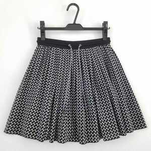 ☆16年SS【美品】マックスマーラ/腰ゴム シルク100% デシン スカート/38/Max Mara/SPORTMAX CODE/7号