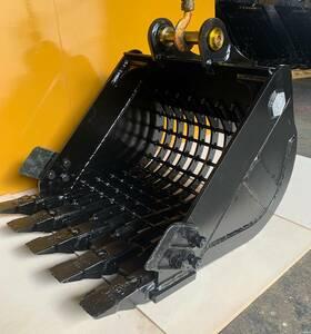 スケルトンバケット(新品 )細目50x50,コマツPC25/PC27MR/PC28UU/PC30/PC30FR/PC30MR/PC30UU/PC35MR/PC35R-8/PC38UU.ピン= 35 mm