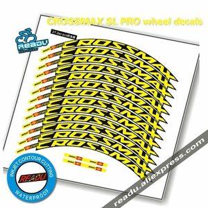 ★最安値★MAVIC CROSSMAX SL PRO MTB ホイールステッカー PRO自転車 ホイールデカール バイクステッカー2輪デカールMTBリムステッカー