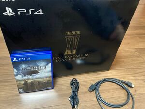 PS4本体 PS4 プレイステーション4 ファイナルファンタジー15 LUNA FINAL FANTASY XV ジェットブラック
