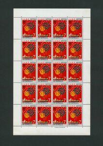 記念切手 1970年 日本万国博覧会記念 7円 切手シート