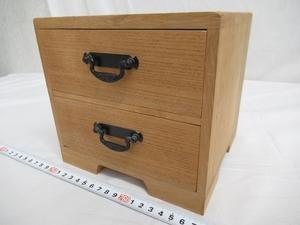 M2709 桐木地 小引き出し 小箪笥 小物入れ 収納箱 木製