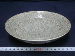 P2771 金田鹿男 印花文 皿 菓子皿 菓子器 菓子鉢