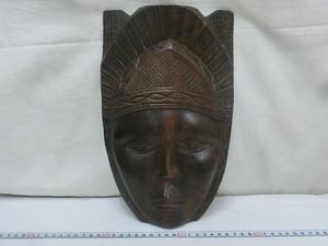 P2746 木製 レリーフ 御面 彫刻 エスニック 置物 飾物