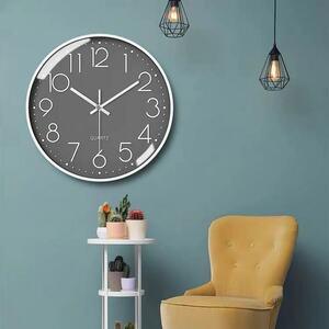 壁掛け時計 静音 北欧風 シンプル グレー