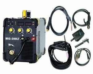 ハイスペック!複合マルチ インバーター式半自動溶接機 MIG-200LT!MIG MAG TIG MMA 単相100V/200V共用 鉄 ステン アルミ MIG200LT MIG200!