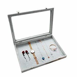 F ジュエリーケース アクセサリーボックス ピアス イヤリングケース 耳飾り収納/ネックレス収納/指輪収納 ケース ベルベット