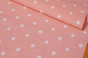 B格品 綿100%シーチング ドット/渋ピンク 微薄 長5m巾110㎝ ブラウス チュニック スカート キッズ服 ハンドメイド