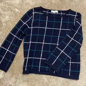小さいサイズ 美品 組曲 ニットセーター S2 オンワード
