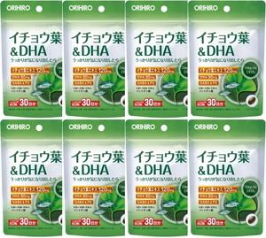 【送料無料】イチョウ葉&DHA 60粒(30日分)×8個セット オリヒロ