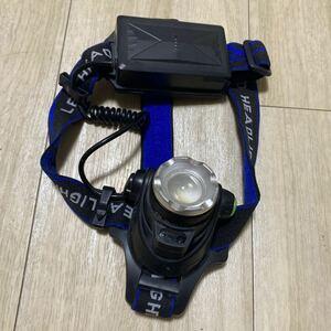 防災 災害対策 充電式 led ヘッドライト センサー搭載 USBチャージ ヘルメットライト ズーム機能付