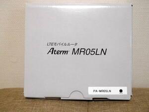 NEC★Aterm・MR05LN モバイルルーター(SIMフリー)本体・充電ケーブル・アダプター・外箱・新品互換バッテリー