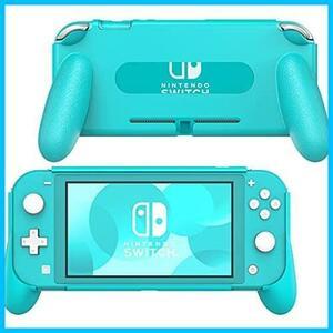 ★サイズ:グリップつき仕様ターコイズ★ 任天堂スイッチLite Nintendo ハンドルグリップ スタンドホルダー スイッチライト Switch Switch
