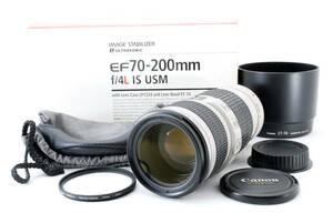 ◆極美品◆Canon キャノン EF 70-200mm f/4 L IS USM 元箱付き 6ヶ月動作保証 即決送料無料