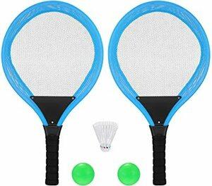 Blue 54*27 cm TOYMYTOY テニスラケット おもちゃ ラケットセット 子供 幼稚園用小道具小学校屋外スポーツ