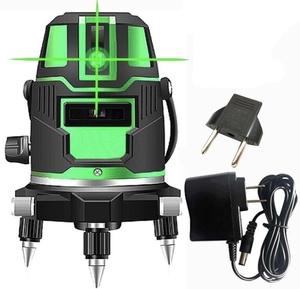 ☆最安値☆5ライングリーンレーザー 墨出し器 回転レーザー線 大矩照射モデル 360度回転式セルフレベリングクロスレーザー (☆B-F4)