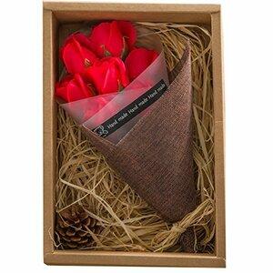 レッド NATURE KIZAWA ソープフラワー 花束 バラ 造花 枯れない花 誕生日 プレゼント 母の日 ギフト メッセージ